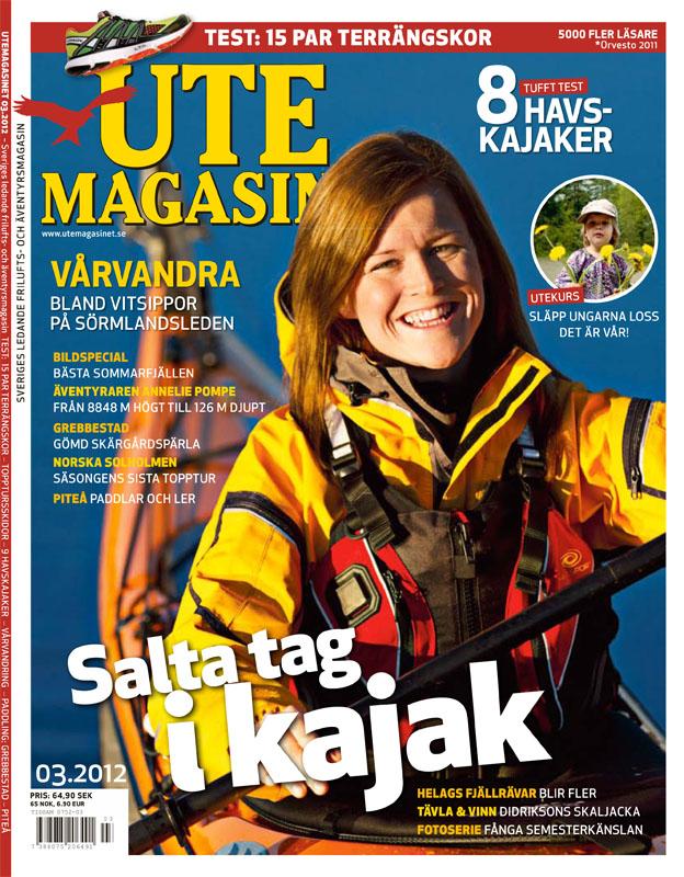 Omslagsfoto på Utemagasinets aprilnummer