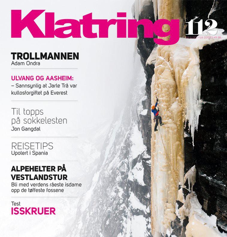 Adam Ondra interview in Klatring