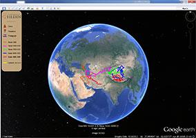 Following Sven Hedin in Google Earth